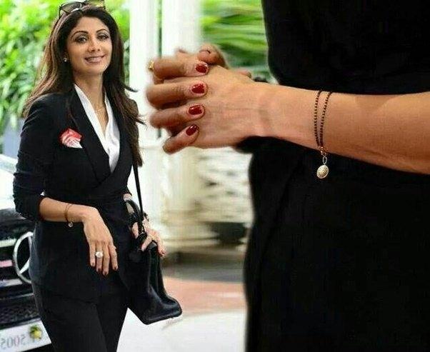 Shilpa Shetty in bracelet mangalsutra