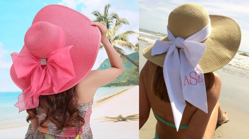 Straw hat for beach