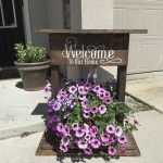Floral Wooden Pallet Welcome Ideas For Home