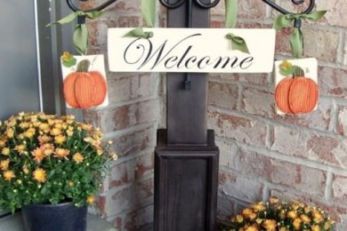 Wooden Pallet Floral welcome board