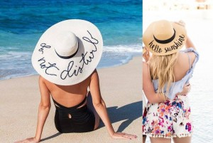 lettered beach hat