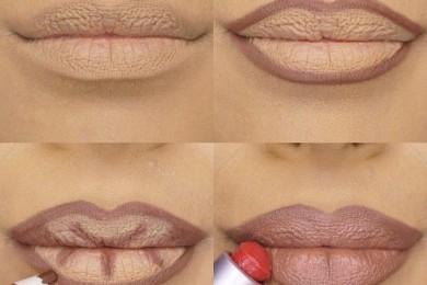Lip contour for fuller lips