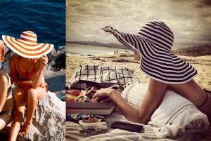striped hats for beaches