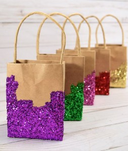 DIY decorated gift bags