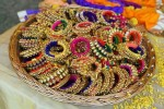 Mehndi favors ghungroo bangels
