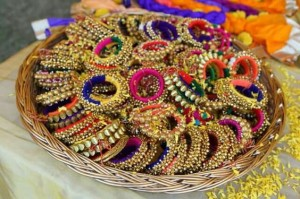 Mehndi favors ghungroo bangles