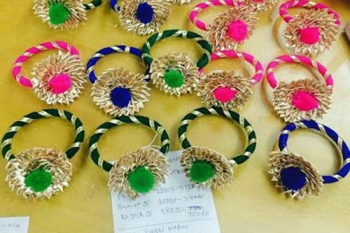 Mehndi favors gota hairbands