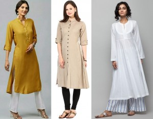 Plain kurtas for college wardrobe