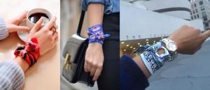 Scarf as a bracelet