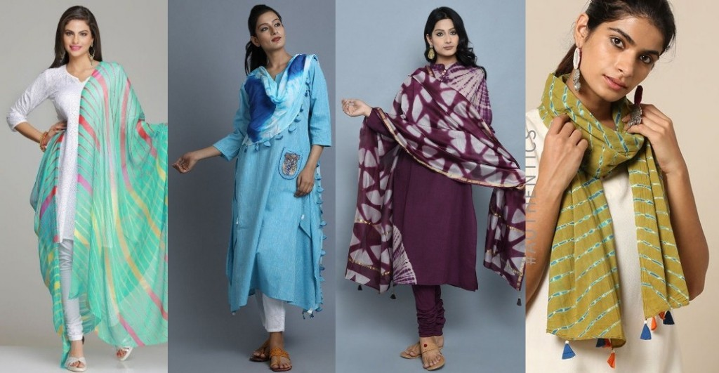 Tie and dye dupatta wardrobe essential for college