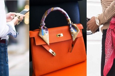 scarf as a bag accessory-Threads-WeRIndia