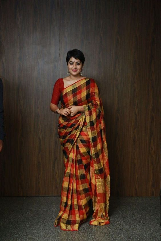 Cotton saree for Rakhi