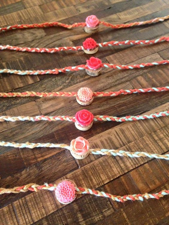 DIY Wood and jute Rakhi