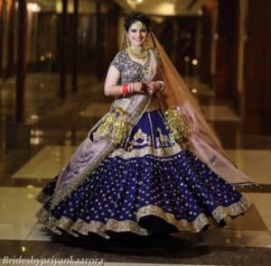 Dark Blue lehnga