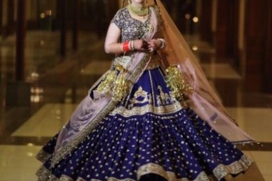 Dark Blue lehnga, An Unusual bridal lehngas