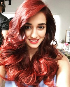 Disha Patani in red hair color