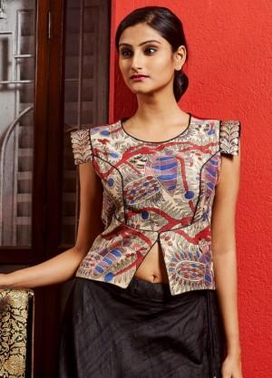 Handpainted Madhubani print designer blouses