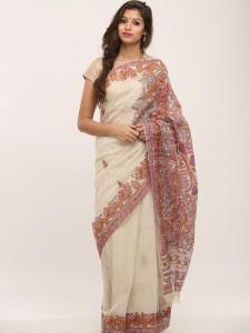 Handpainted Madhubani saree