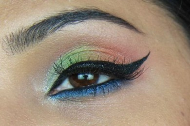 Independence day eye makeup