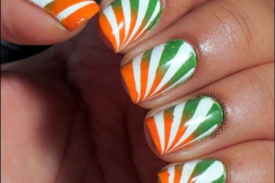 Independence day nail art