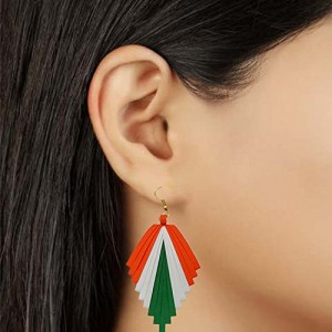 Independence day tricolor earring-