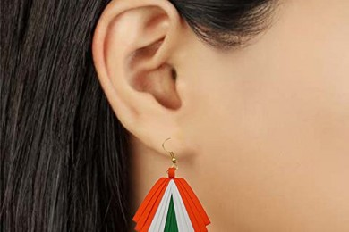 Independence day tricolor earring