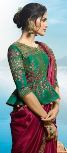 Peplum blouse style for saree