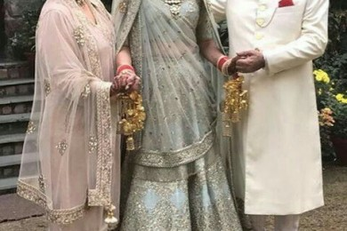 Powder grey lehnga, Unsual bridal lehngas
