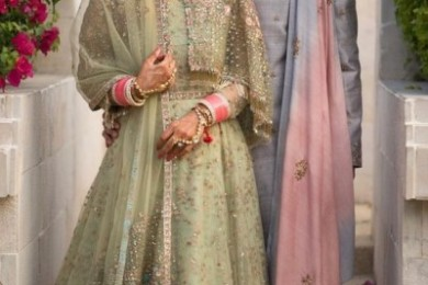 Sea green Lehnga, Unusual bridal lehngas