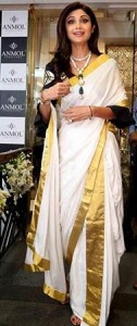 Shilpa Shetty in kerala saree