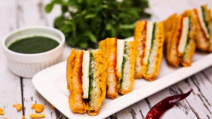 Tricolor breadpakora Independence day recipes
