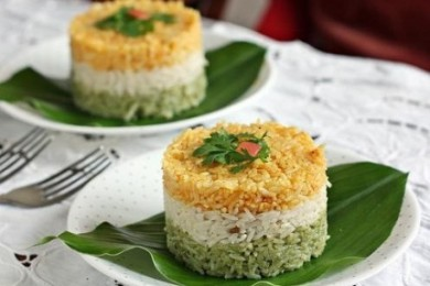 Tricolor rice sandwich Independence day recipes