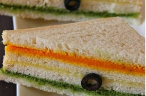 Tricolor sandwich Independence day recipes
