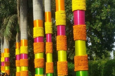 DIY Indian Wedding decor tree decoration photos