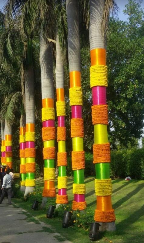 DIY Indian Wedding decor tree decoration photos