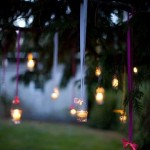 DIY Indian Wedding decor with LED candle jars
