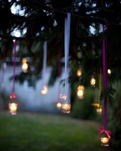DIY Indian Wedding decor with LED candle jars