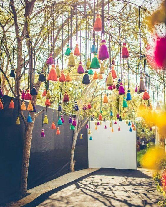 DIY Indian Wedding decor with paranda
