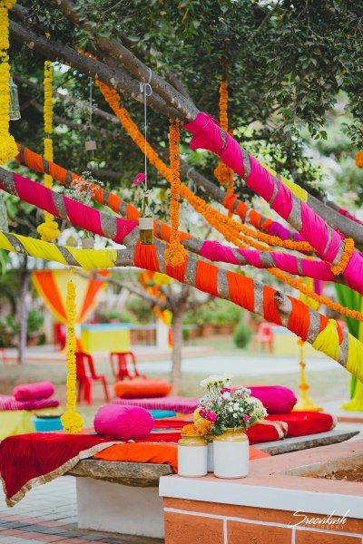 DIY Indian Wedding decor with tree decoration