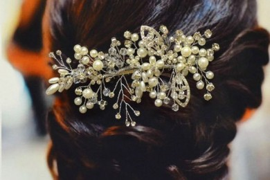Accessories for a bun hairstyle