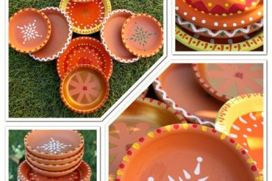 6 Ways To Decorate Plain Diya At Home