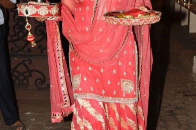 Dressing up for karvachauth