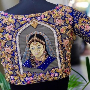 Embroidered wedding blouses for brides