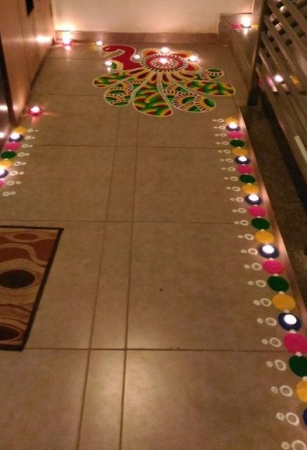 How to light up homes for diwali