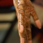 Mehndi with husband name