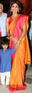Shilpa Shetty in traditional saree