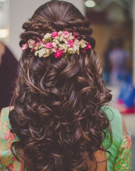 Open Hairstyles with Flowers