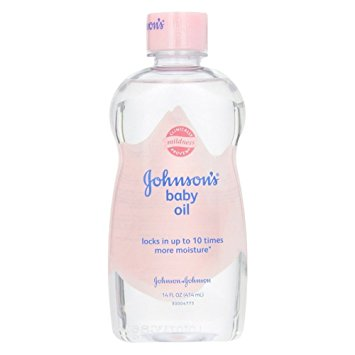 baby oil as natural makeup remover