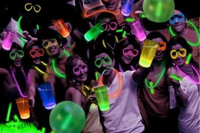 Glow in the dark party for new year bash