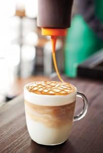 Caramel Brulle latte coffee